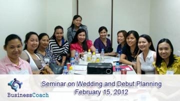 wedding and debut planning seminar