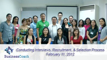 conducting interviews and selection process