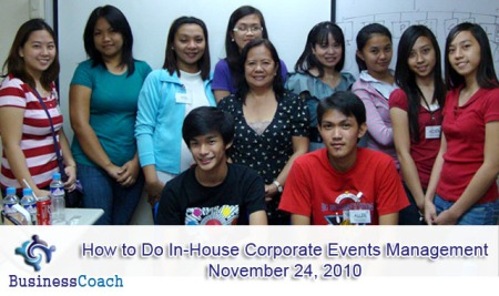 seminar on how to do in-house corporate events management