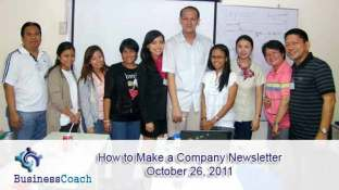 how to make a company newsletter