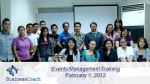 events management training