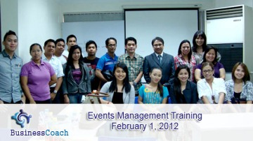 events management training