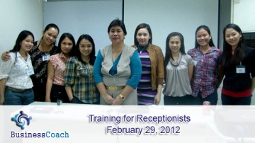 training for receptionists